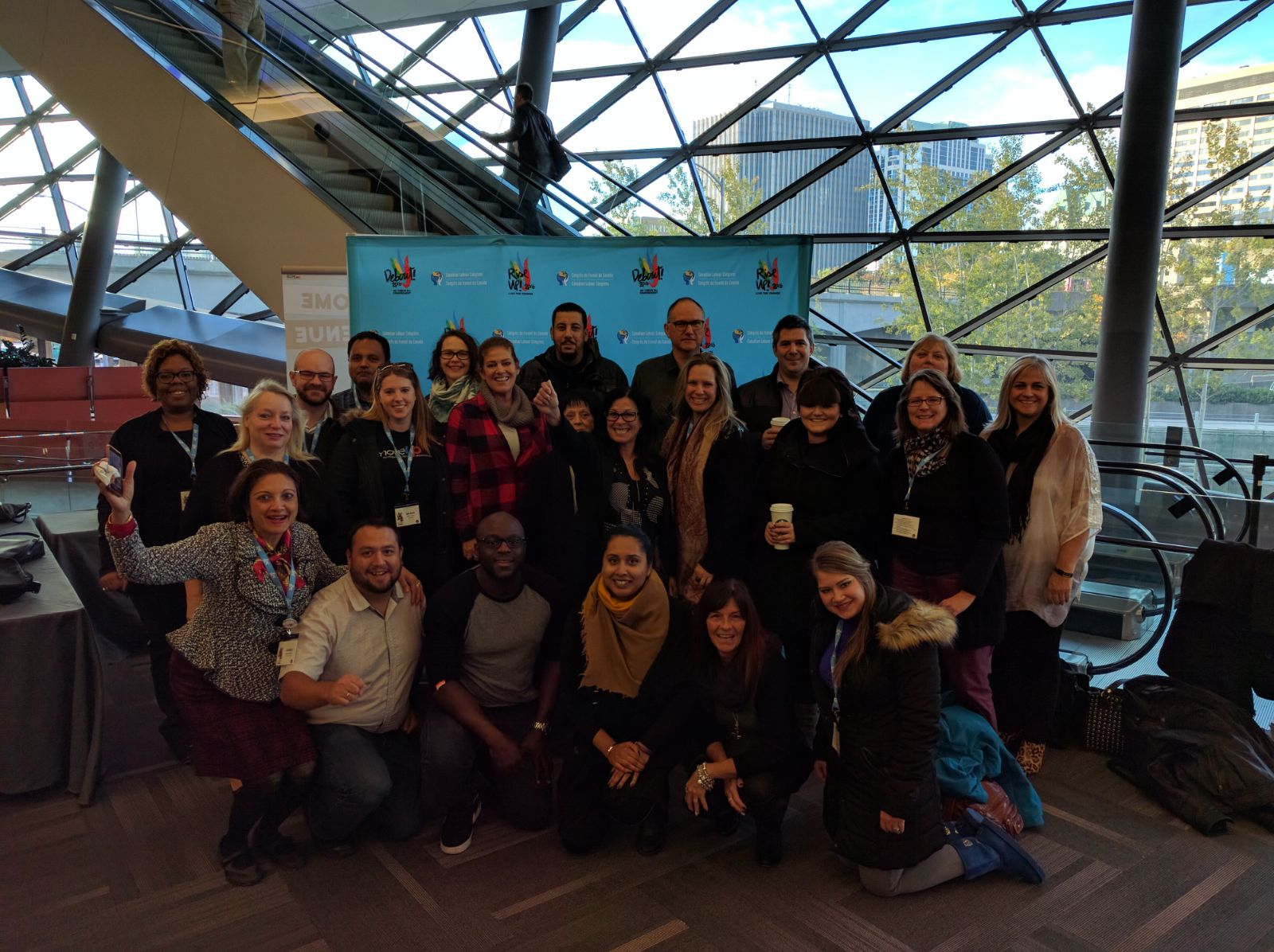 COPE Delegates at the CLC 2016 Rise Up! Human Rights Conference